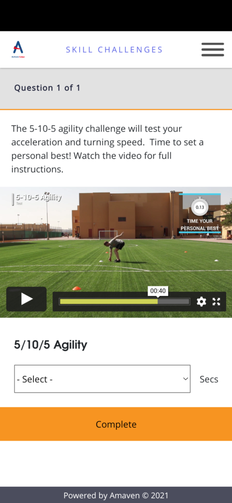 Activate Camps sports app 2